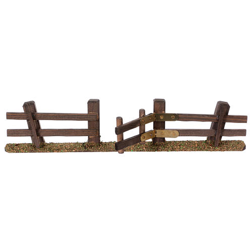 Nativity setting, fence with gate 3x7x2 cm 3