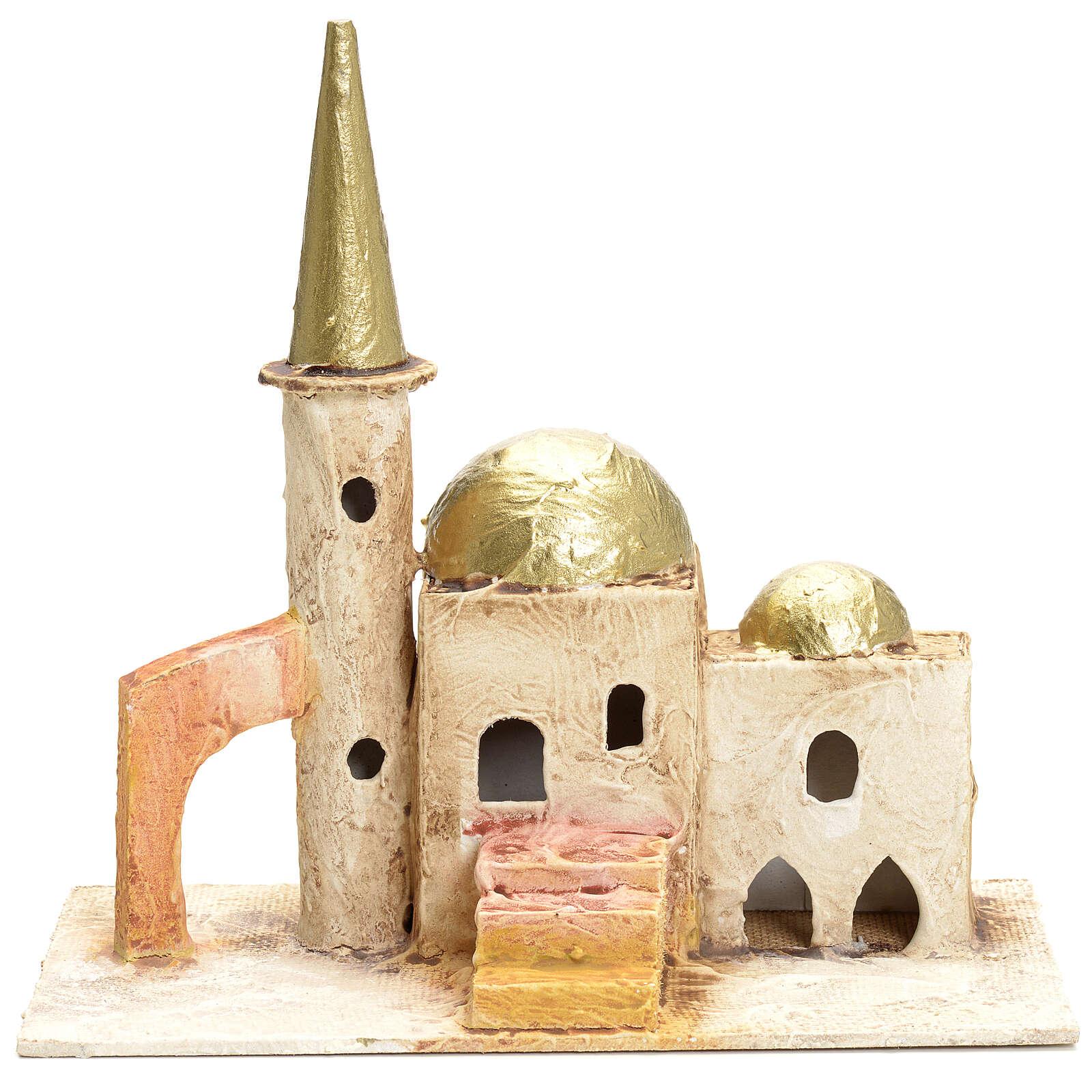 Minareto per presepe con torre 18x19x11 cm 4