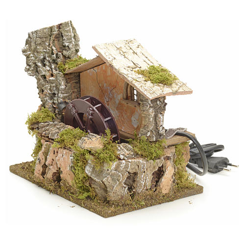 Water mill for nativities 18x20x14cm 2