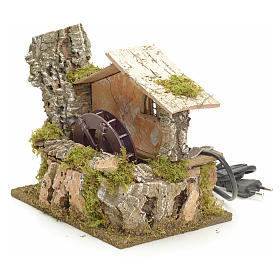 Water mill for nativities 18x20x14cm s2