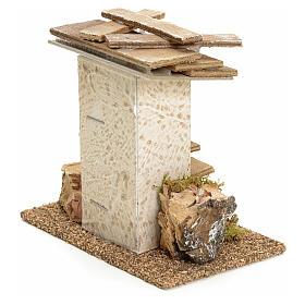 Casa rustica con rocce e muschio 11x11x6 s2