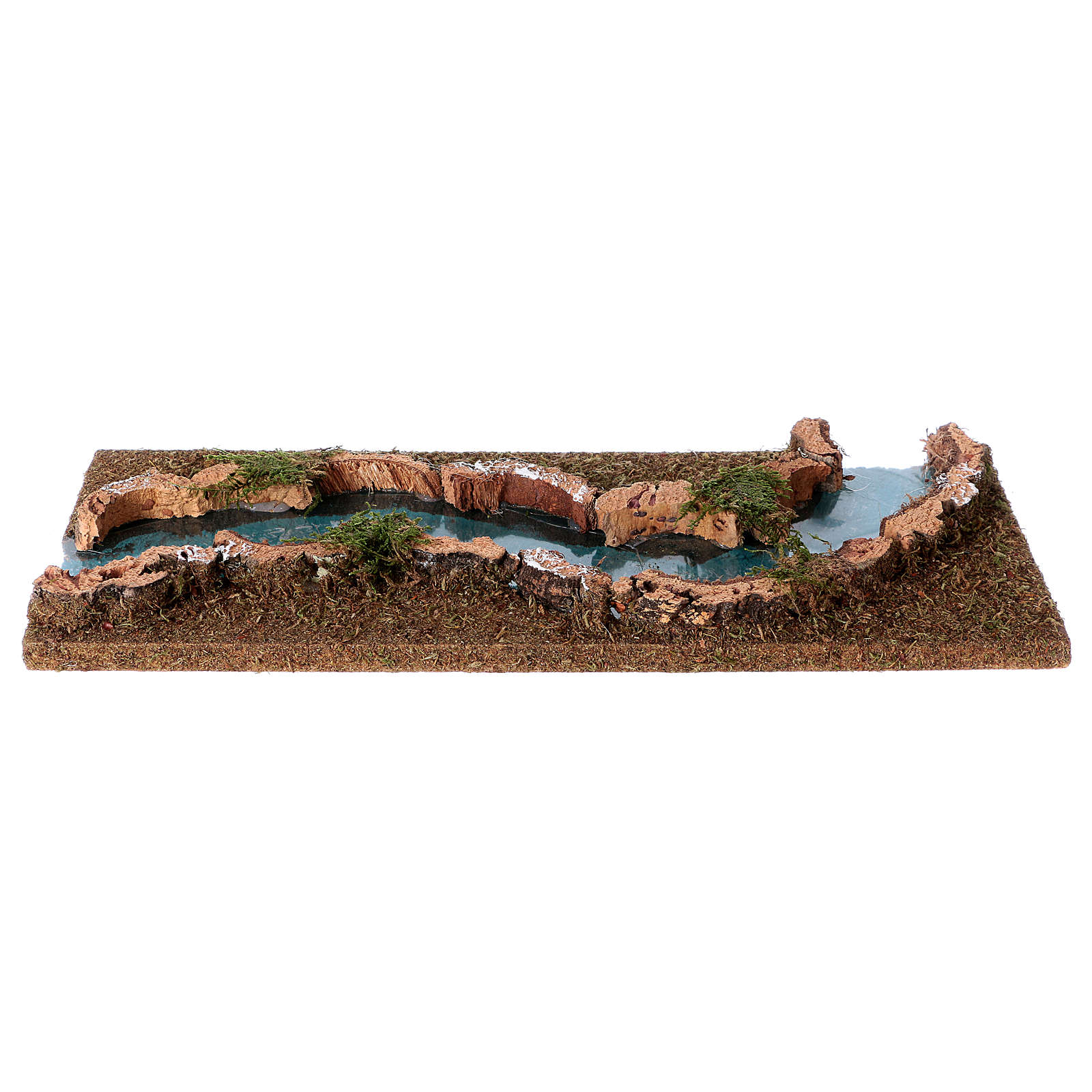Nativity setting, river trait in cork and wood 4