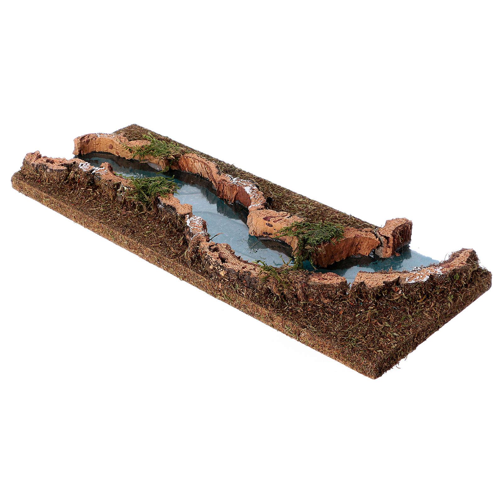 Recorrido del río pesebre 33x14 corcho y madera 4