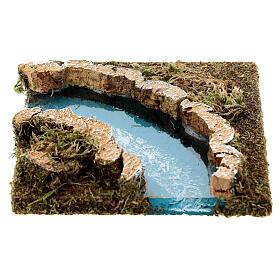Curva fiume per presepe in sughero s1