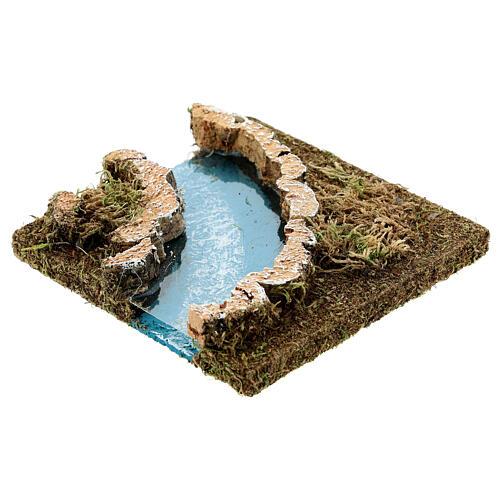 Curva rio para presépio em cortiça 2