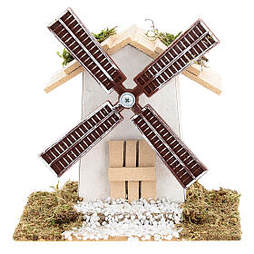 Electric wind mill for nativities 12x13x9cm s1