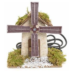 Moulins en miniature: Moulin à vent électrique pour crèche 12x13x