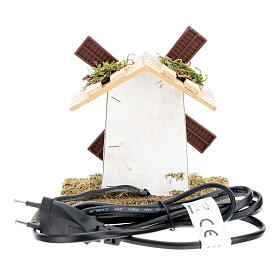 Electric wind mill for nativities 12x13x9cm s4