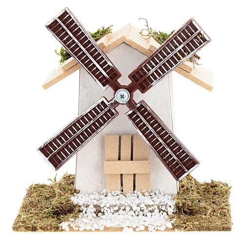 Electric wind mill for nativities 12x13x9cm 1