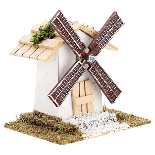 Electric wind mill for nativities 12x13x9cm 3