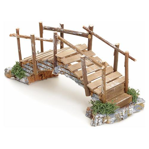 Nativity setting, bridge with edges 10x23x8cm 2
