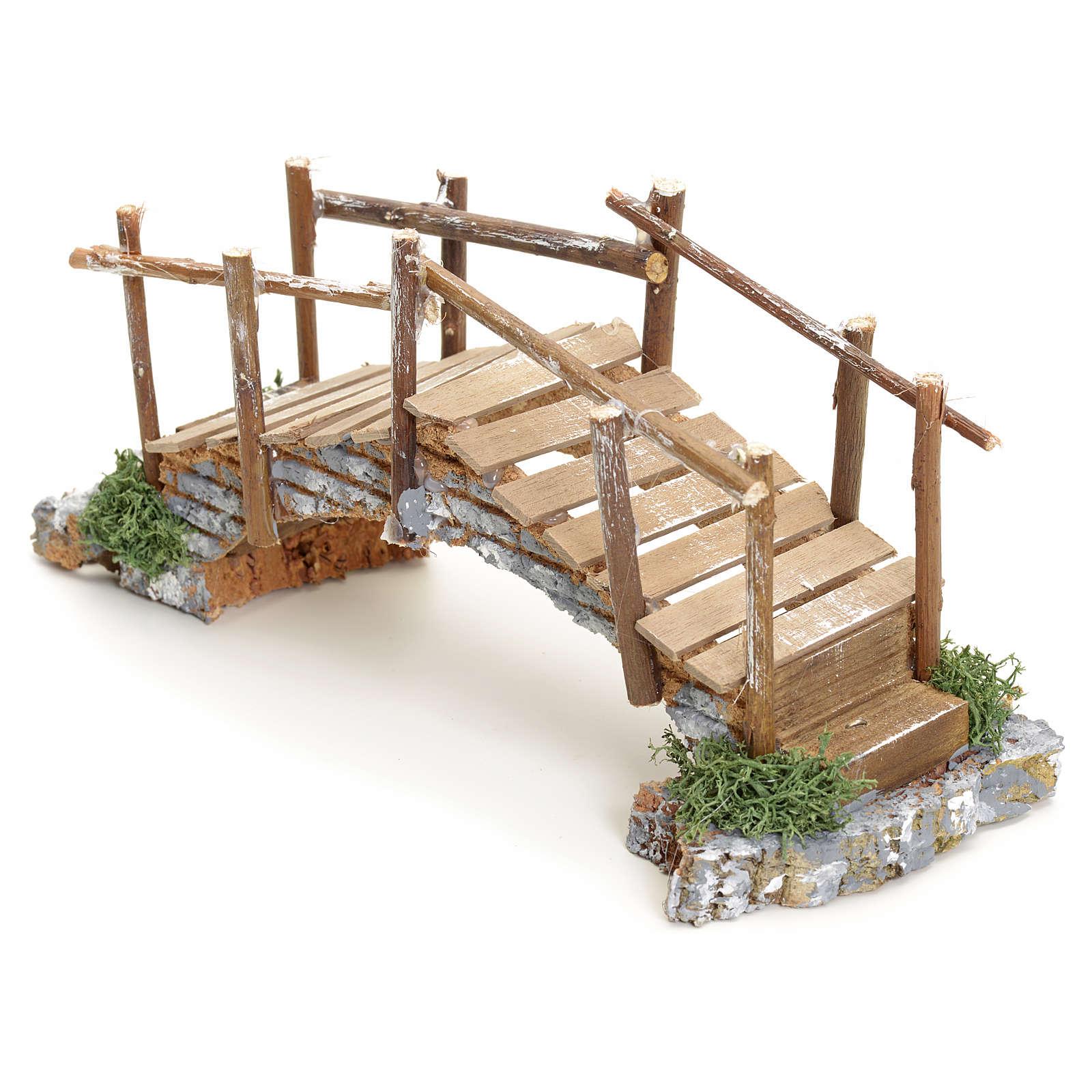 Puente pesebre con pasamano 10x23x8 4