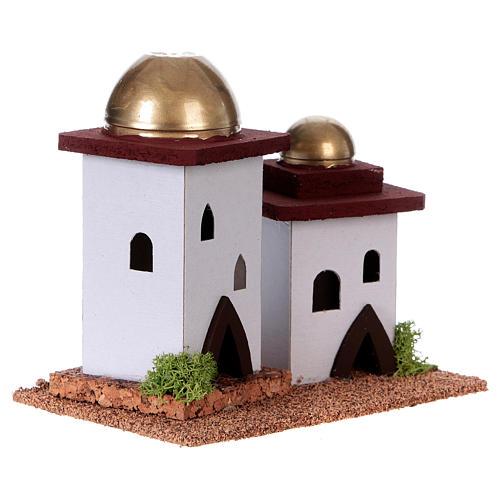 Nativity setting, double Arabian house H14cm 3