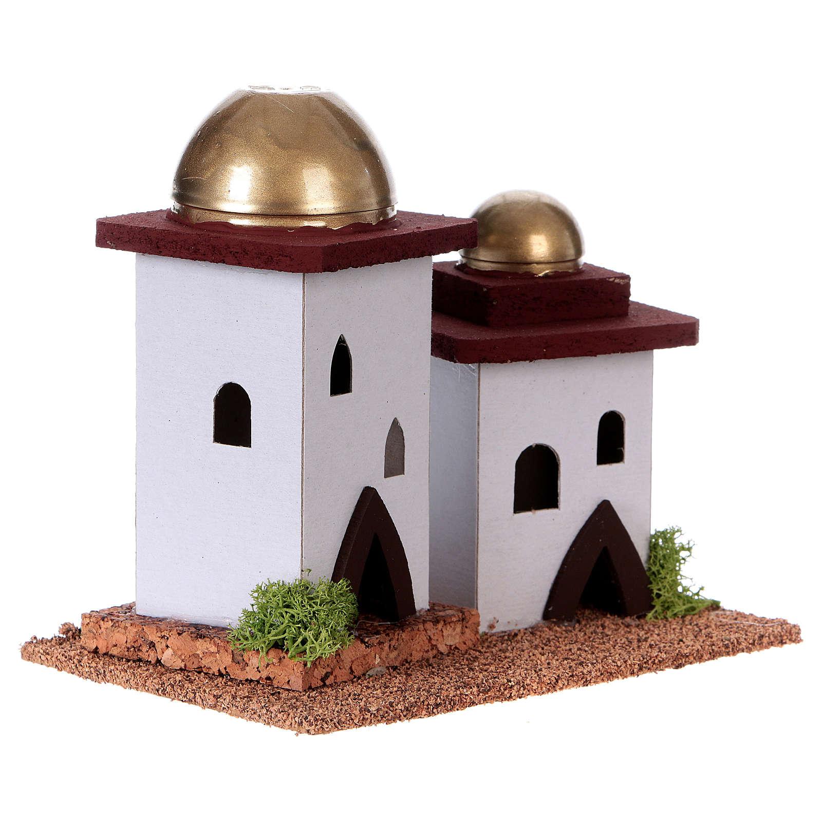 Casa doble árabe pesebre 14 cm altura 4