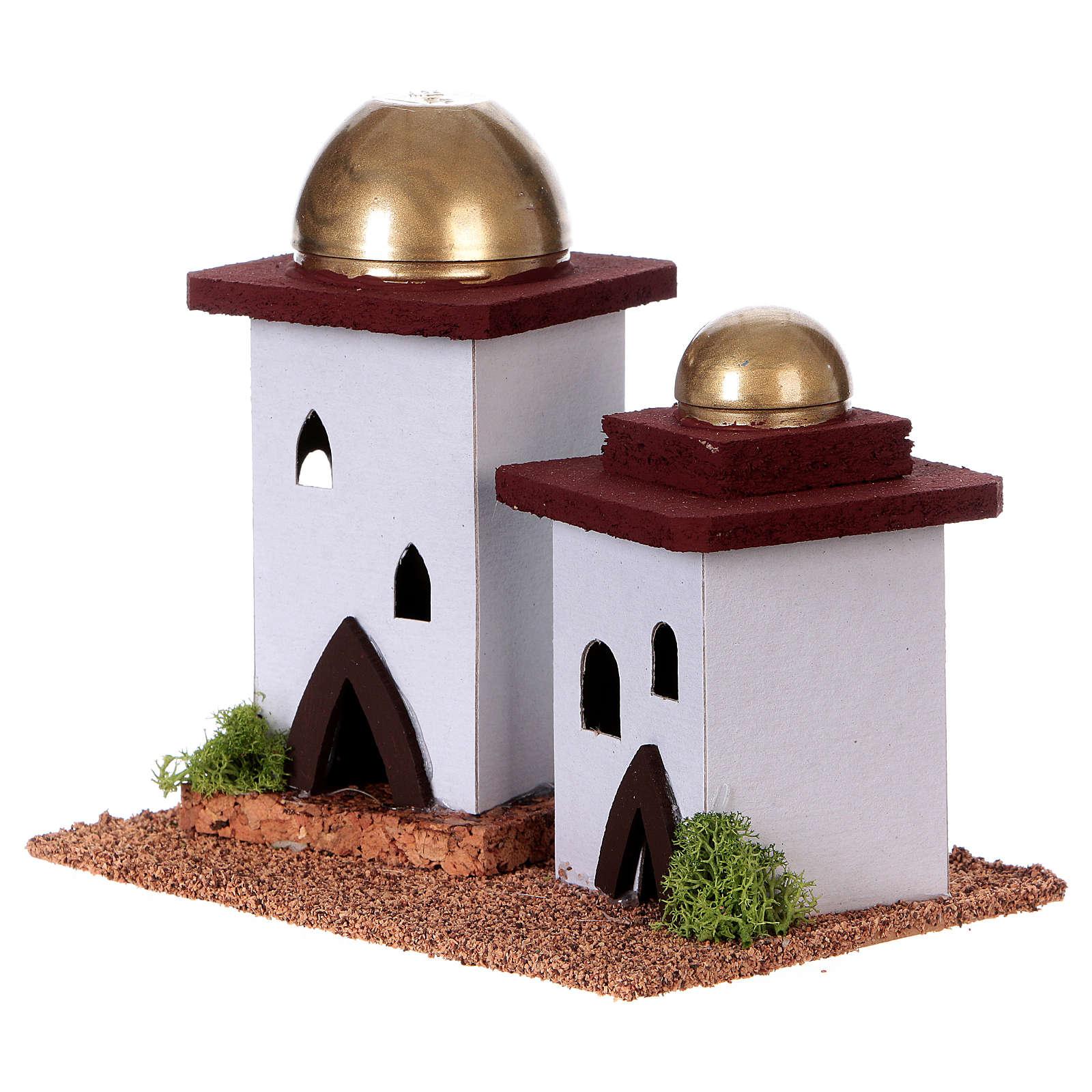 Casa araba doppia presepe h 14 cm 4