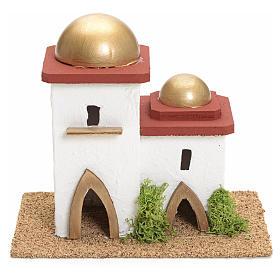 Casa araba doppia presepe h 14 cm s1