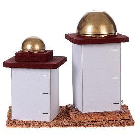 Casa araba doppia presepe h 14 cm s4