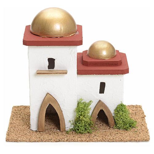 Casa araba doppia presepe h 14 cm 1