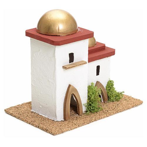 Casa araba doppia presepe h 14 cm 2
