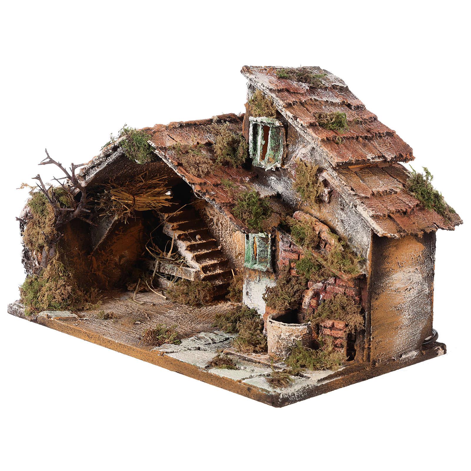 Nativity scene stable, Neapolitan style 40x23xz28 4