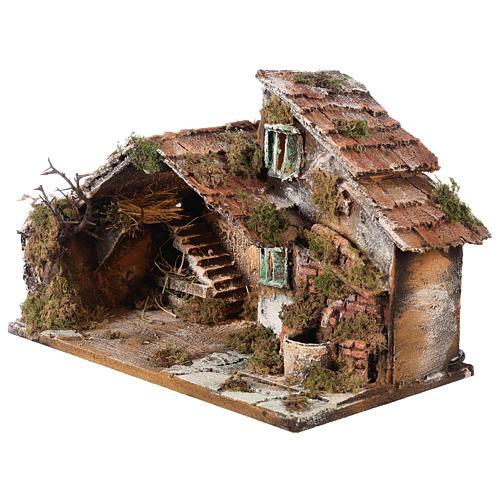 Nativity scene stable, Neapolitan style 40x23xz28 3