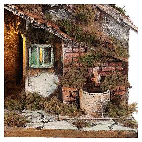 Nativity scene stable, Neapolitan style 40x23xz28 s2
