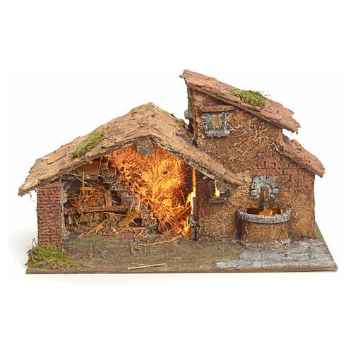 Nativity scene stable, Neapolitan style 40x23xz28 1