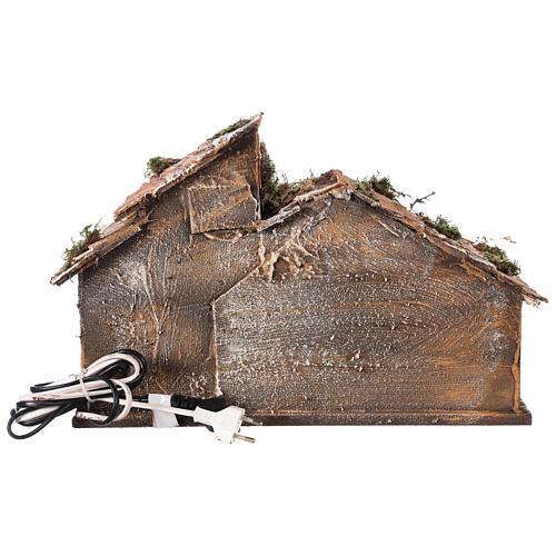 Nativity scene stable, Neapolitan style 40x23xz28 5