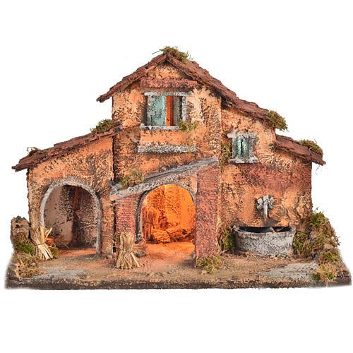 Nativity farmhouse , Neapolitan nativity 40x38x40cm 1