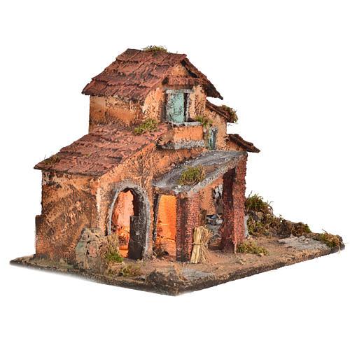 Nativity farmhouse , Neapolitan nativity 40x38x40cm 2