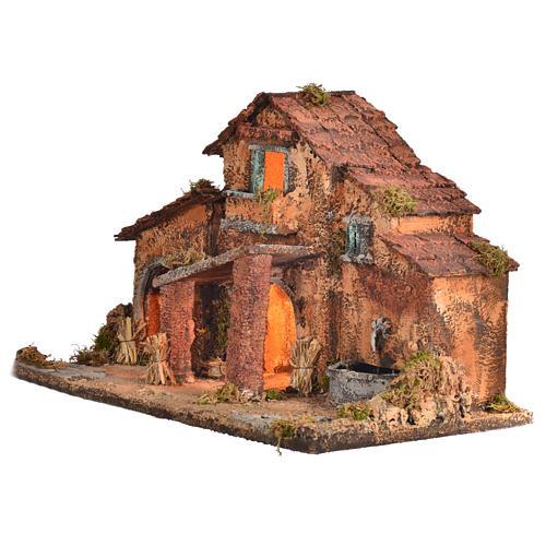 Nativity farmhouse , Neapolitan nativity 40x38x40cm 3