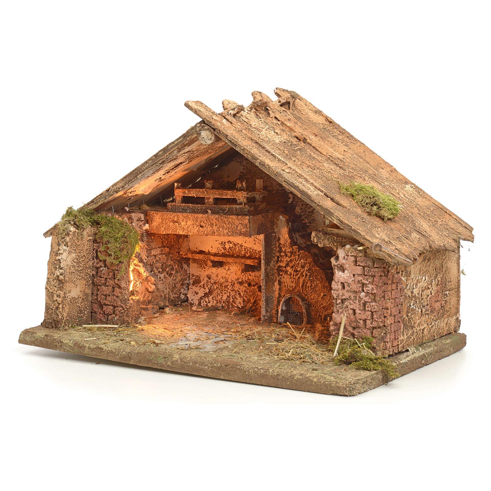 Hütte 43x43x30 cm neapolitanische Krippe 4