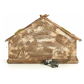 Hütte 43x43x30 cm neapolitanische Krippe s4