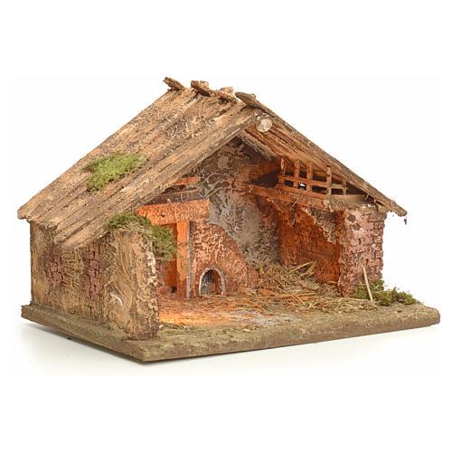 Hütte 43x43x30 cm neapolitanische Krippe 2
