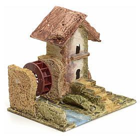 Casa estucada para pesebre con molino s2