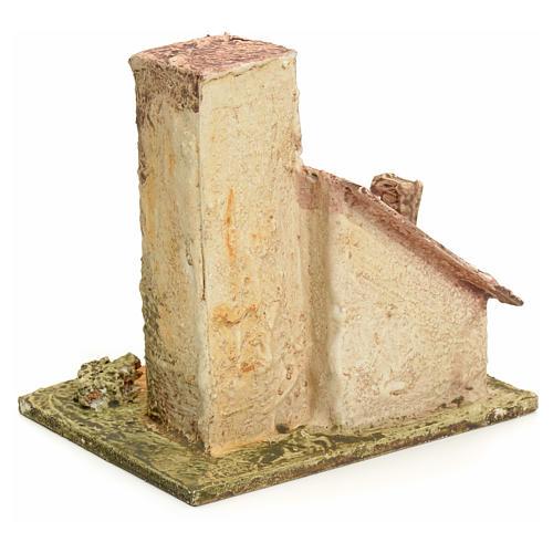 Maison en miniature en bois stucqué pour crèche 3