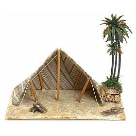 Tenda araba con palme: ambientazione per presepe 22x32x24 s1