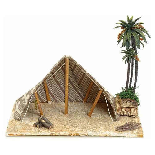 Tenda araba con palme: ambientazione per presepe 22x32x24 1