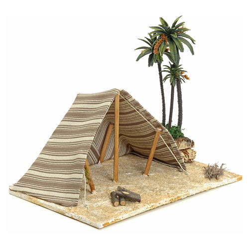 Tenda araba con palme: ambientazione per presepe 22x32x24 2