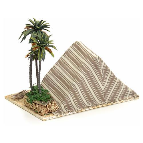 Tenda araba con palme: ambientazione per presepe 22x32x24 3