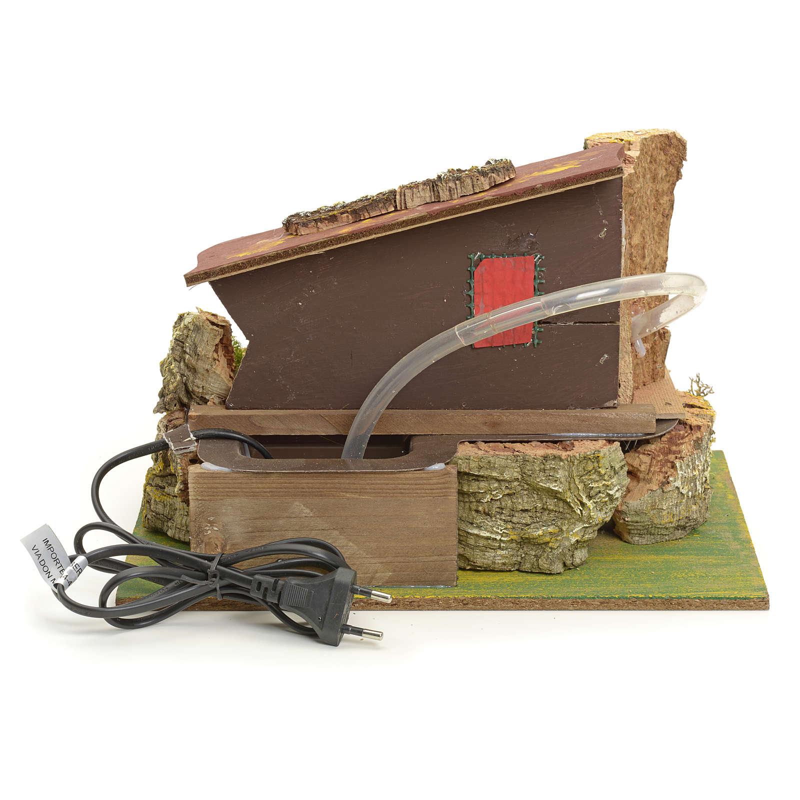 Mulino ad acqua elettrico con casa: ambiente presepe 4