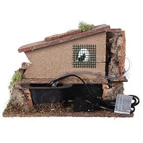 Mulino ad acqua elettrico con casa: ambiente presepe s4
