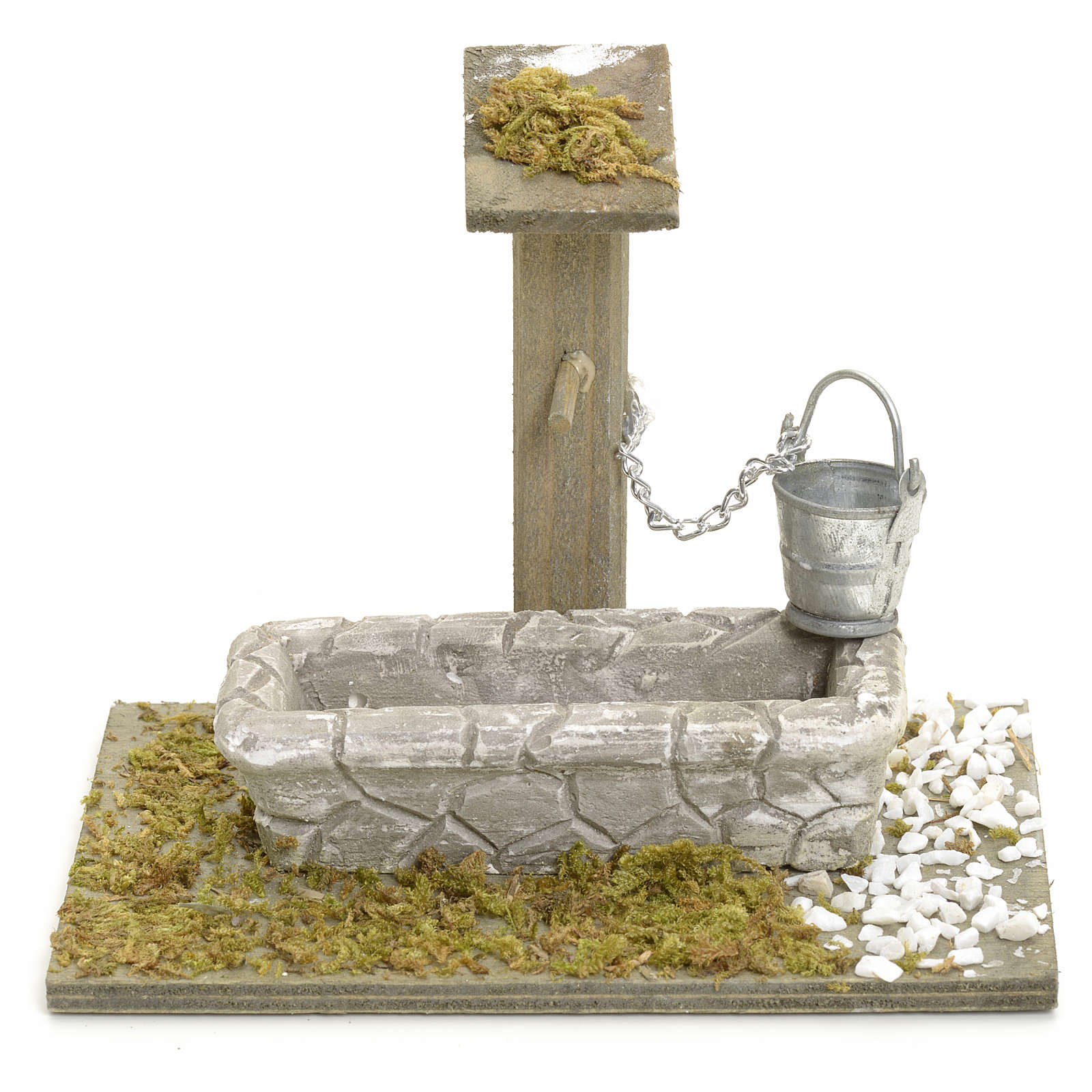 Nativity setting, fountain with bucket 4