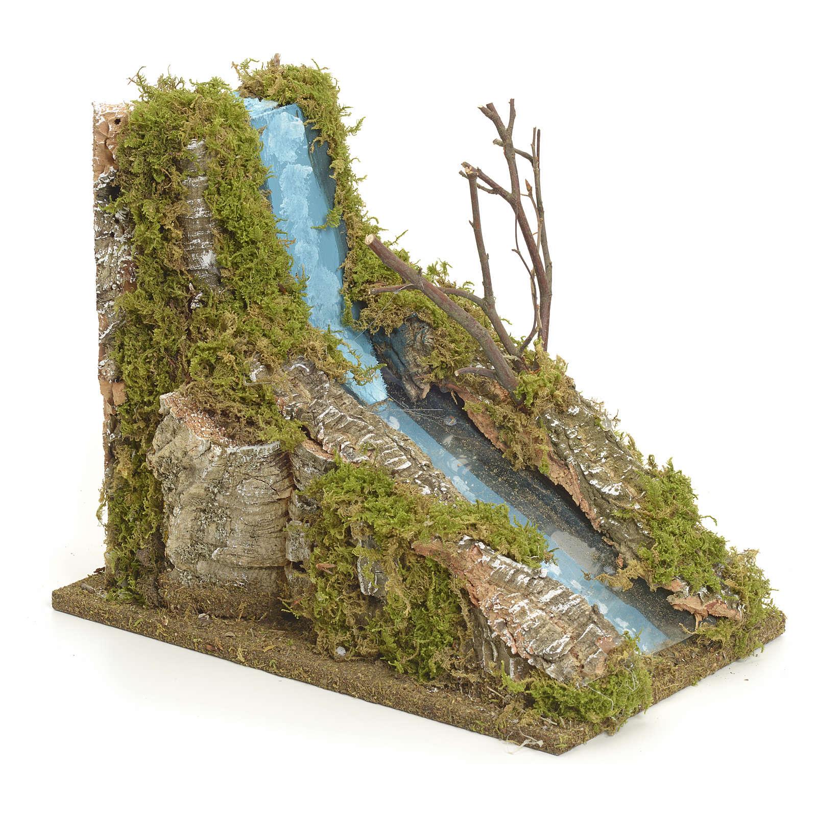 Rapide de fleuve miniature pour crèche 4