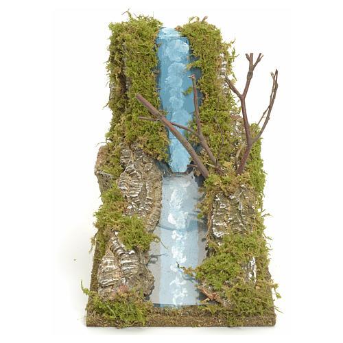 Rapide de fleuve miniature pour crèche 1