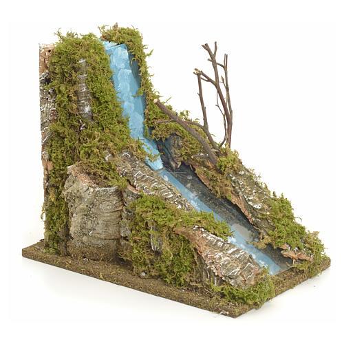 Rapide de fleuve miniature pour crèche 2