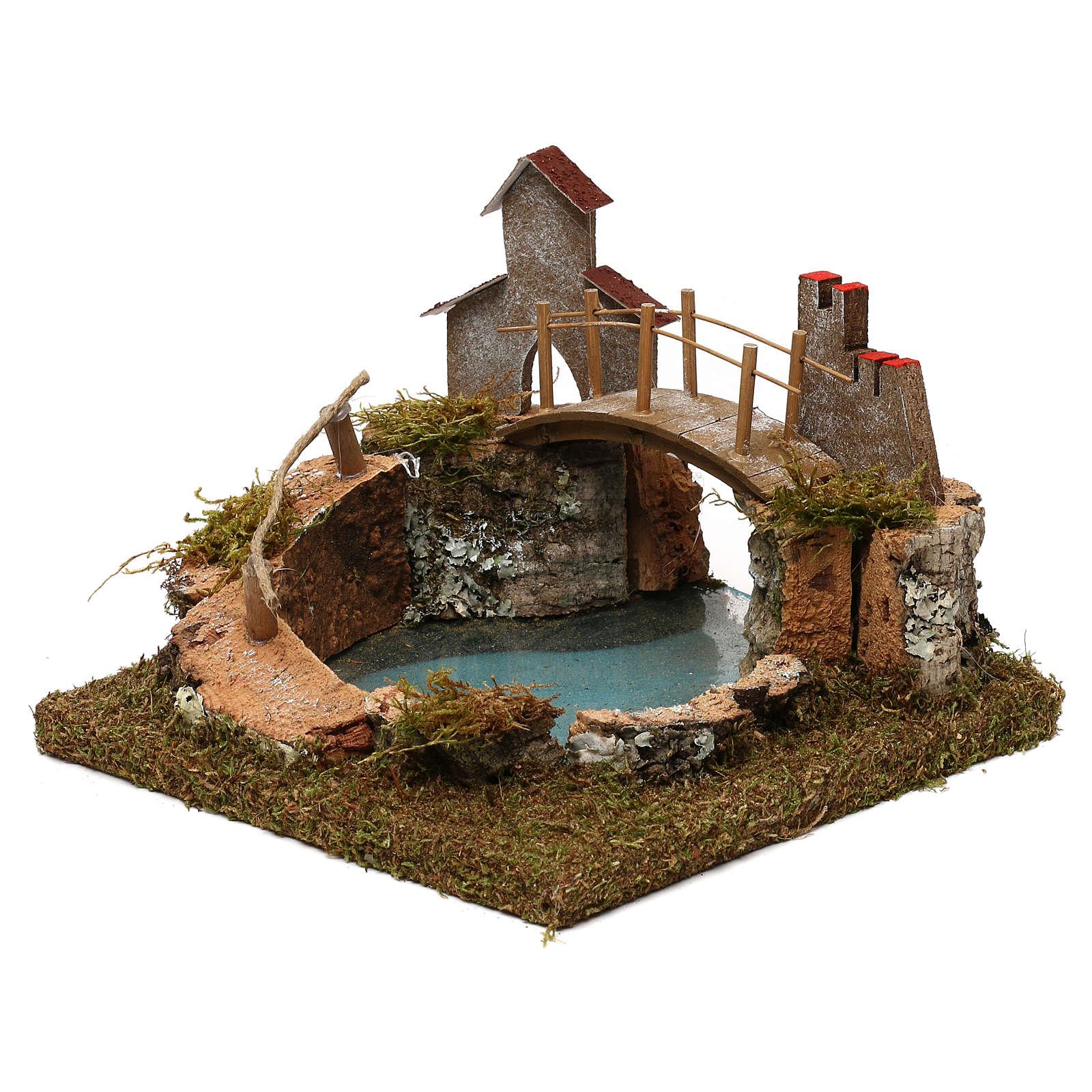 Jezioro górskie most i zwierzęta 4