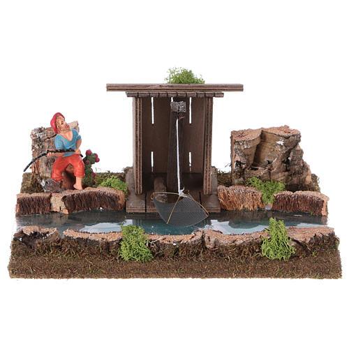 Tratto di fiume con baracca del pescatore 1