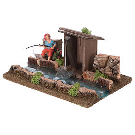 Nativity setting, river with fisherman's hut s2
