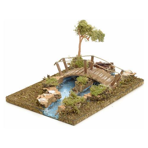 Pont sur îlot de rivière pour crèche 2